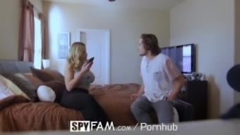 SpyFam Stepson fucks busty stepmom Olivia Austin for first timers