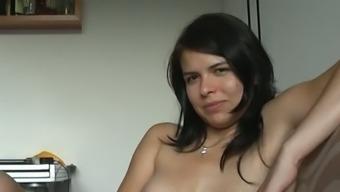 Zuzinka and her enthusiast masturbating