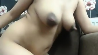 attractive stepsis along with big puffy nipples on cam