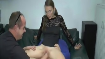 Extreme youngster dual fisted and fucked