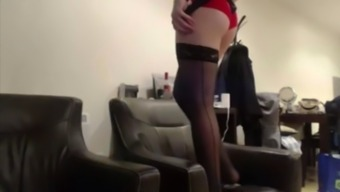 Huge Tgirl indicates her remarkably warm booty