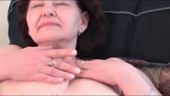 Busty Granny Masturbating