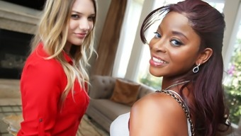 Interracial Lesbian Sexual intercourse With Kenna James & Jasmine Webb