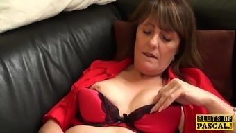Clit pierced britain granny masturbating