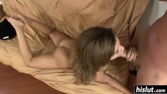 Deepthroating a stiff schlong with Natasha White colored