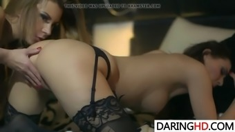sizzling lesbian milfs cindy hope and dorothy topmost