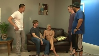 Pale whore Layla Value is getting a role in wild gangbang scene