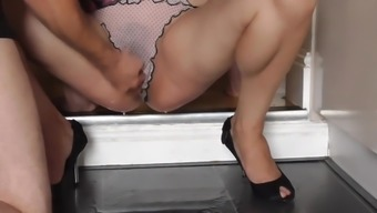 Naughty Homemaker Pisses and Gushes upon the Home kitchen Flooring