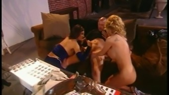 Busty Flaxen and Dark Cops Sexual intercourse By using Felony