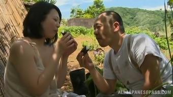 Gorgeous Japanese milf is enjoying her man