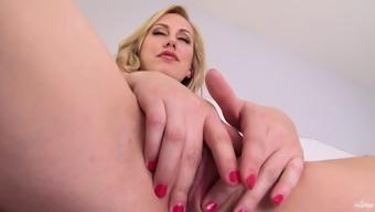 Milf Independently Kind Loves Masturbation And Little finger Fucks Tense Cunt