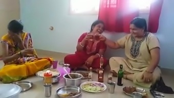 Neighbourhood Aunties Drinking Beer and figure out hers Conduct....
