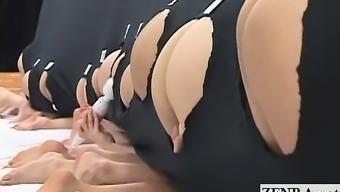 Subtitled crazy Japanese people switch grandure opening anus game
