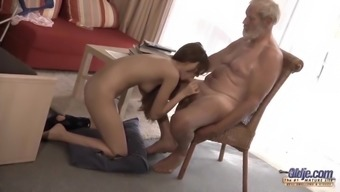 Old Little - Great Raise Grandpa Fucked by Teenager defeat sturdy cock