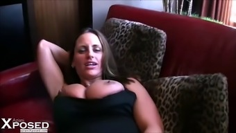horny milf gets down and grimy during a occasion despite the fact that her close friend film versions it