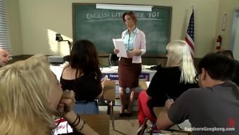 kinky coach gangbanged by her students