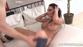 MILFGonzo Dayton Down pours fucked and stuffed up with a creampie