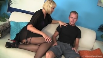 Definitely stocked tramp in stockings get fucked in a steamy doggystyle present