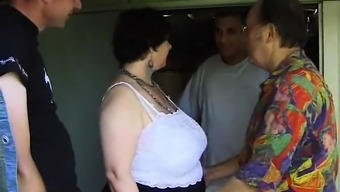 BBW Franch granny Olga blowjob