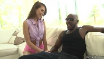 Riley Reid and her tiny pussy really love to fuck great black manhood. She