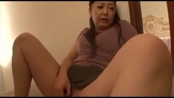 Japanese mature spies and masturbates