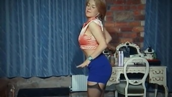 Abnormal - old big tits strip interact tease in stockings
