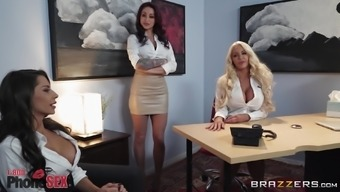 Mind-blowing workplace love-making by using a fake-titted stunner Madison Ivy