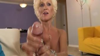 Sluty Senior Lady Bad boys Off A Young Stud