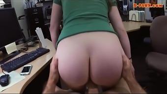 Blonde woman banged by pervert pawn man