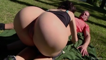 Brunette Ava Courcelles gets gets fucked hard on a sunny day
