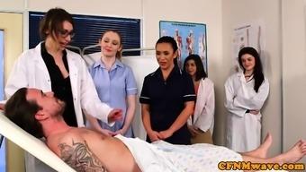 CFNM milf physician shows you clinician cocksucking