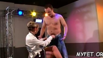 Pleasurable thing female bonks installed guy much like an acrobat