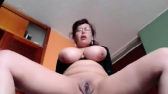 Busty Housewife Liza toying live in your own home