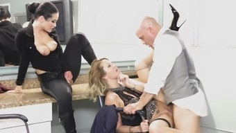 Jessica Drake and Katrina Jade are neat babes needing a fat dick