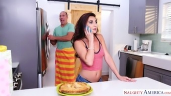 Direct controlled porn star fucks remarkable dame Tifani Taylor in the cooking area