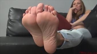 sister nikki indicates her sexy both feet