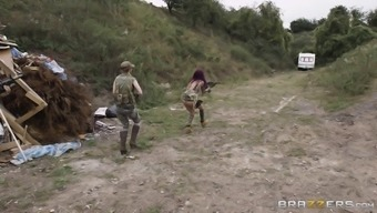 3 (three) of the most extremely alluring military girls plus the excess weight cock of the friend