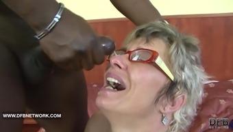 Granny caught masturbating anus fucked by major peerless penis