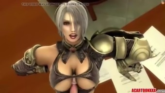 big boobs three-dimensional damsel fucked by various toons