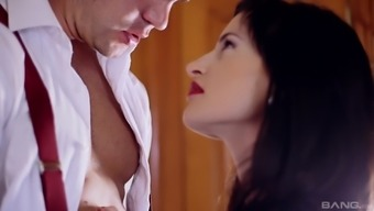 Heated brunette Patrauklumas Courcelles gets her wet crimson crushed through a good friend