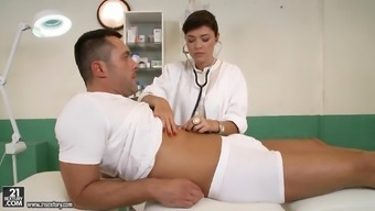 Astounding blond nurse Avesys Dalush making love together affected person