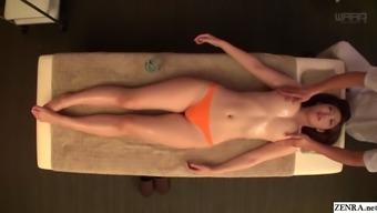 JAV professional Asahi Mizuno CMNF sensual oil rubdown Subtitled