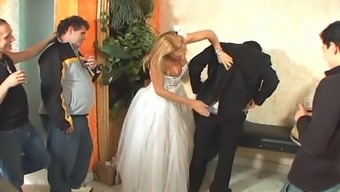 Tranny bride love-making after marriage ceremony
