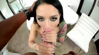 Undead dark colored penis makes astounding Katrina Emerald happier than before