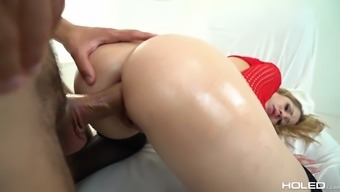 Anal-insane girl Goldie Glock takes a sturdy penile organ in her extended anus