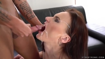 Cute Alice Sharp is very good at trip a huge cock effectively