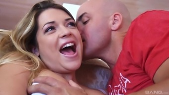 Horny guy grows to fuck Alura Jenson and her friend simultaneously