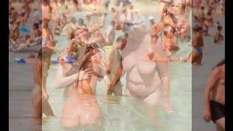 Nudists taking pleasure in Summertime