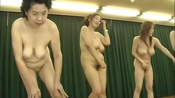 Japanese people Milfs over the edge urinate event