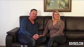 Big tits german milf takes two different cocks